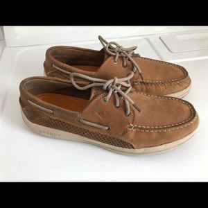 SPERRY TOP SIDER Tan Leather Boat Shoes Men's 11.5
